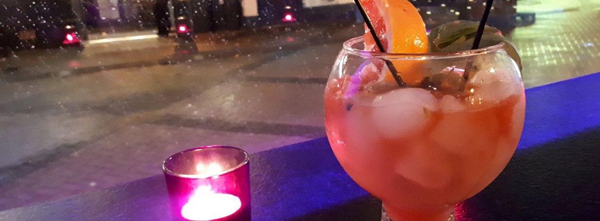Grapefruit & Basil Gin Fizz cocktail