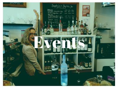 Events at Sophias Barista Bar in Horsham